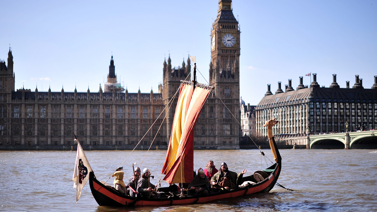 Vikings invade the Houses of Parliament in London (Photo: Carl Court/Getty Images)