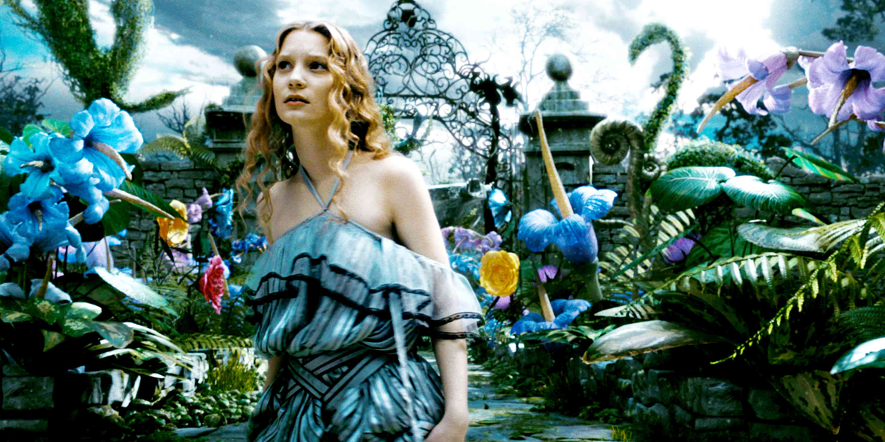 Mia Wasikowska starred in 2010's 'Alice in Wonderland,' returning for the sequel. (Disney)