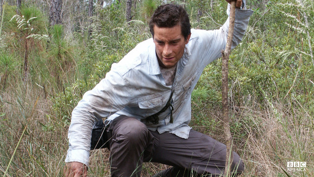 Bear Grylls in the Florida Everglades.