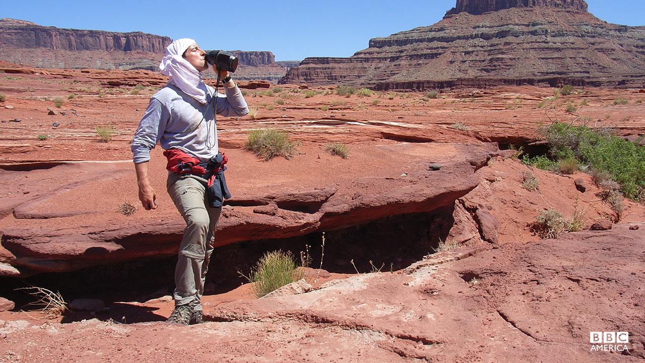 Bear Grylls in the Moab Desert.