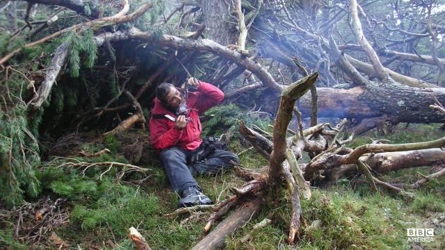 Bear Grylls in Scotland.