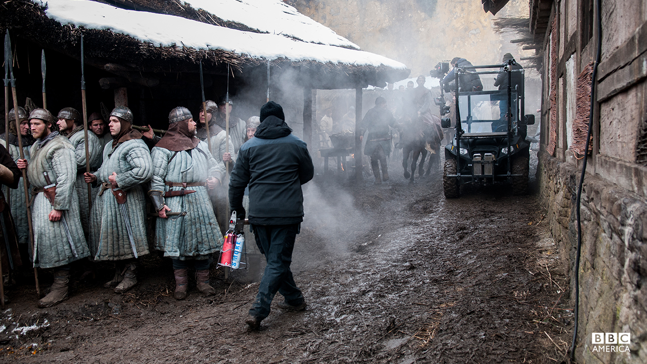 Behind the scenes in Winchester (Kingdom of Wessex).