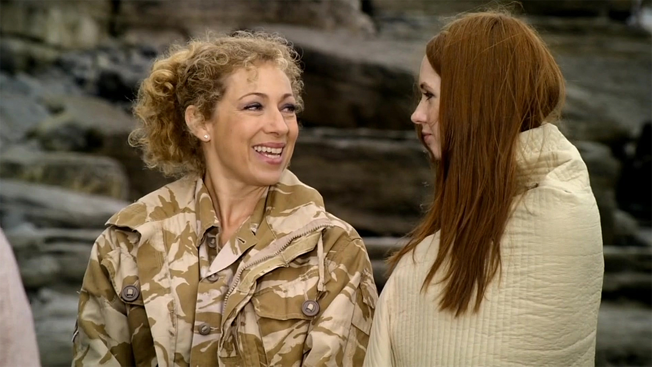Alex Kingston and Karen Gillan in 'Doctor Who' (Photo: BBC)