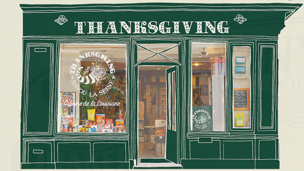This is one-stop shopping for the American expat in Paris, France. (Thanksgiving)