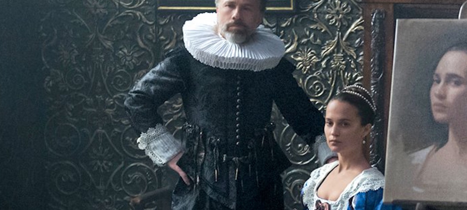 Christoph Waltz and Alicia Vikander star in 'Tulip Fever'