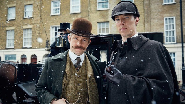 Martin Freeman and Benedict Cumberbatch in 'Sherlock: The Abominable Bride' (Photo: BBC)