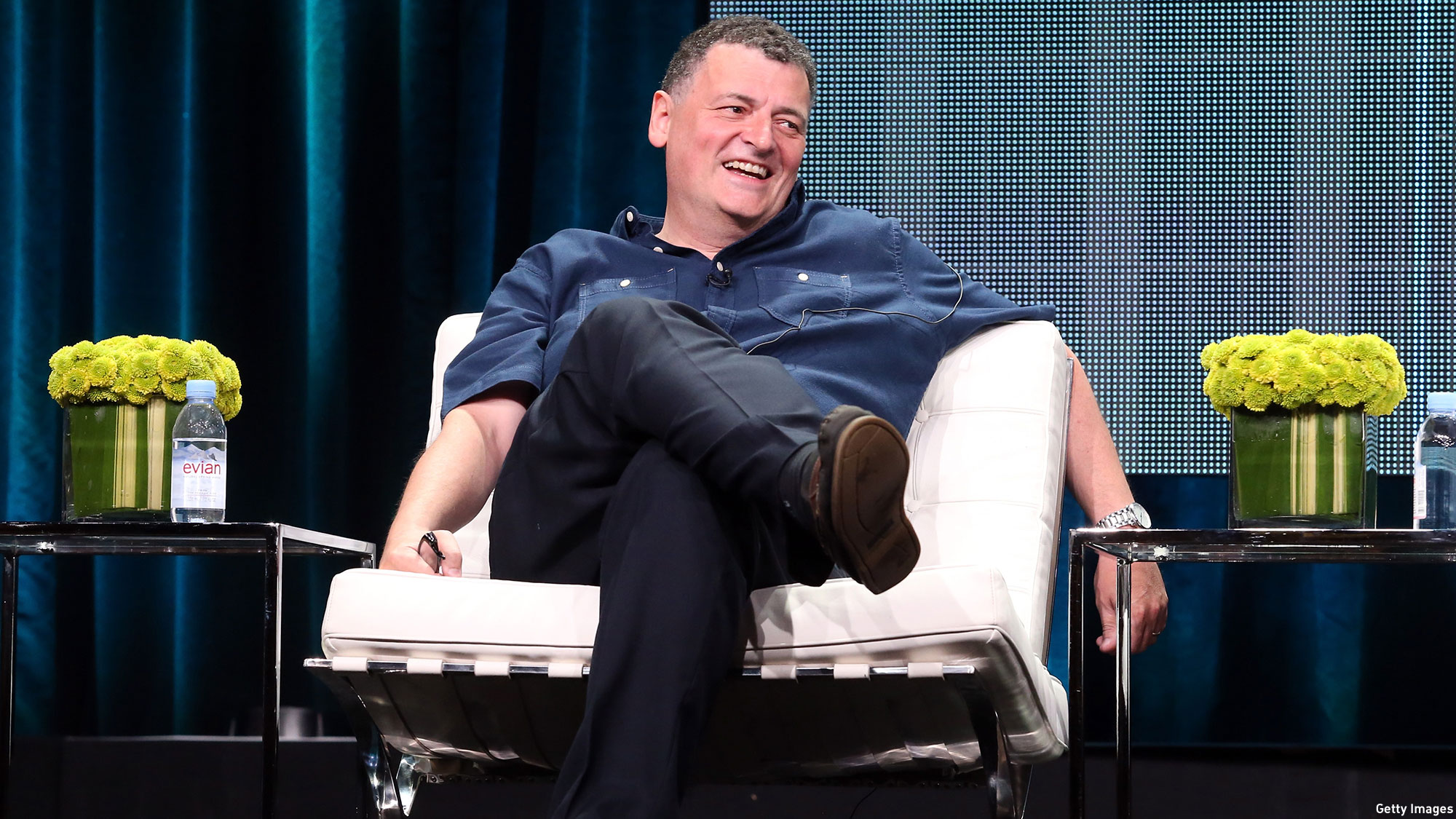 Steven Moffat at TCA. (Photo: Frederick M. Brown/Getty Images)