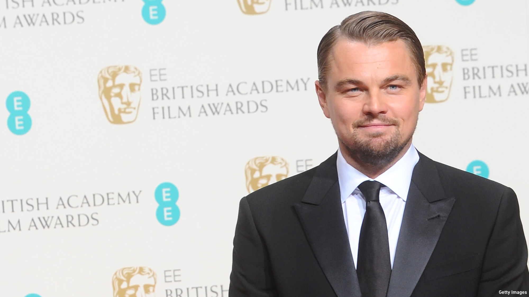 Leonardo DiCaprio at the 2014 EE British Academy Film Awards.  (Photo: Anthony Harvey/Getty Images)
