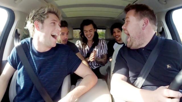 One Direction joins James Corden for Carpool Karaoke