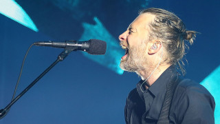 Thom Yorke of Radiohead performs live on stage at Sydney Entertainment Centre on November 12, 2012 in Sydney, Australia.