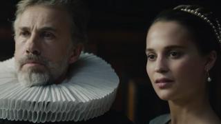 Christoph Waltz and Alicia Vikander star in 'Tulip Fever'