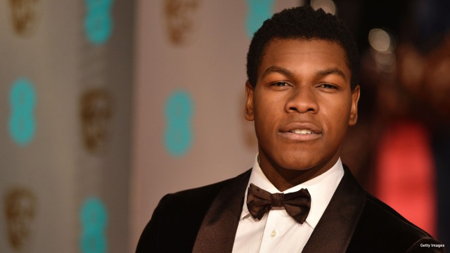 British actor John Boyega poses on arrival for the BAFTA British Academy Film Awards at the Royal Opera House in London on February 14, 2016.