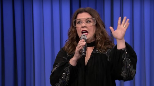 Melissa McCarthy performs in Lip Sync Battle on The Tonight Show with Jimmy Fallon