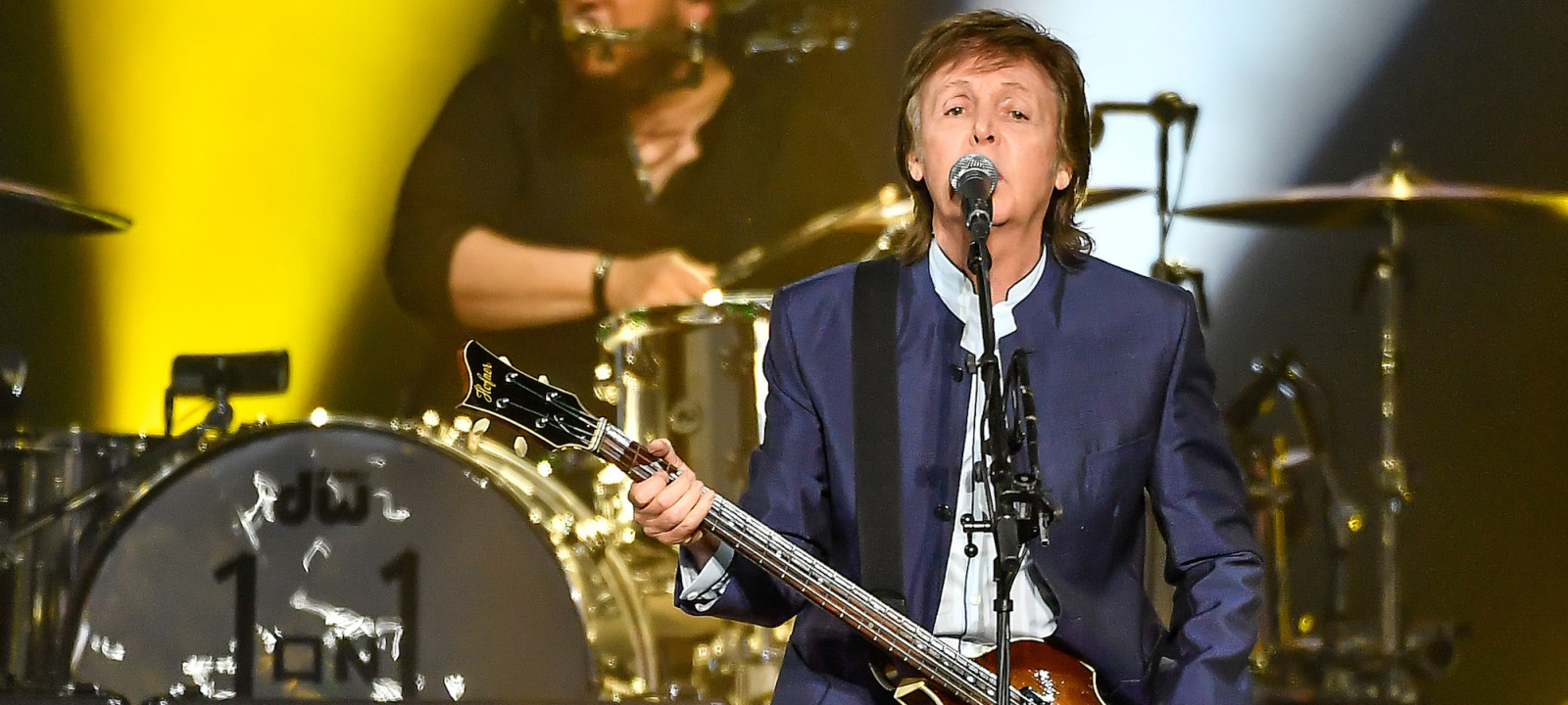 FRESNO, CA – APRIL 13:  Paul McCartney performs on Opening Night of the One On One Tour at Save Mart Center on April 13, 2016 in Fresno, California.