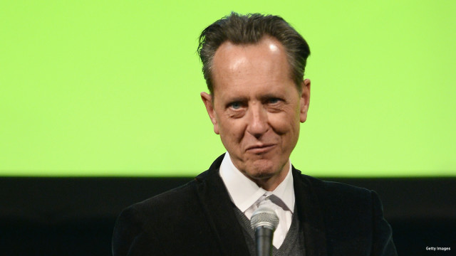 Richard E. Grant presents the Best Actress award on stage during the Jameson Empire Awards 2016 at The Grosvenor House Hotel on March 20, 2016 in London, England.