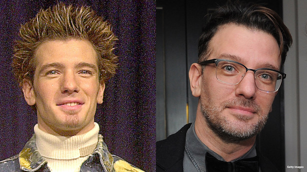 JC Chasez then and now