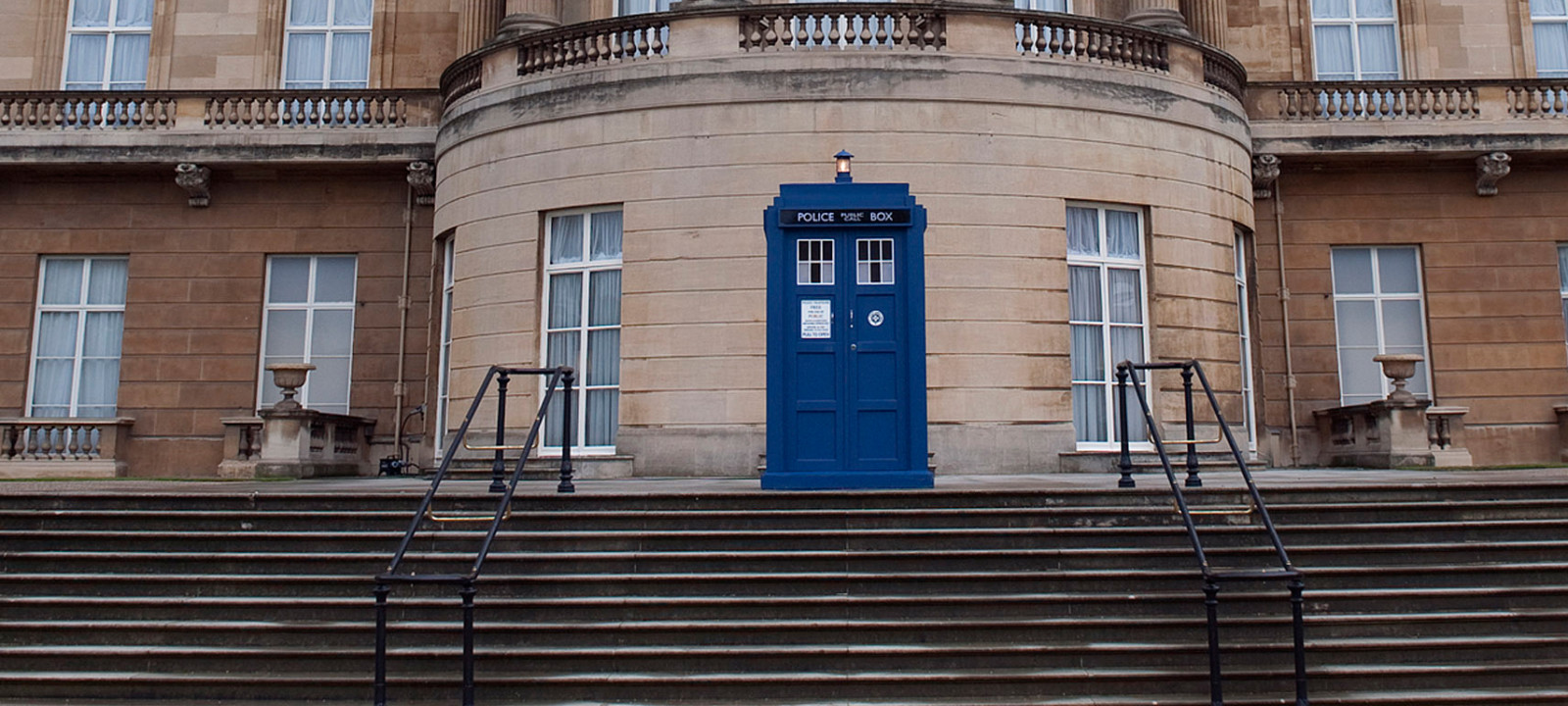 The TARDIS at Buckingham Palace, 2013 (Photo: Eddie Mulholland / Getty Images)