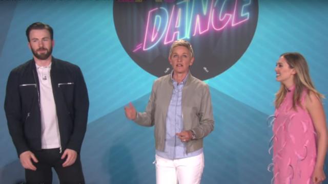 Chris Evans and Elizabeth Olsen on The Ellen Show