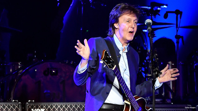 Paul McCartney performs on Opening Night of the One On One Tour at Save Mart Center on April 13, 2016 in Fresno, California.