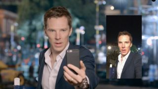 "Benedict Cumberbatch practises his ""blue steel"""