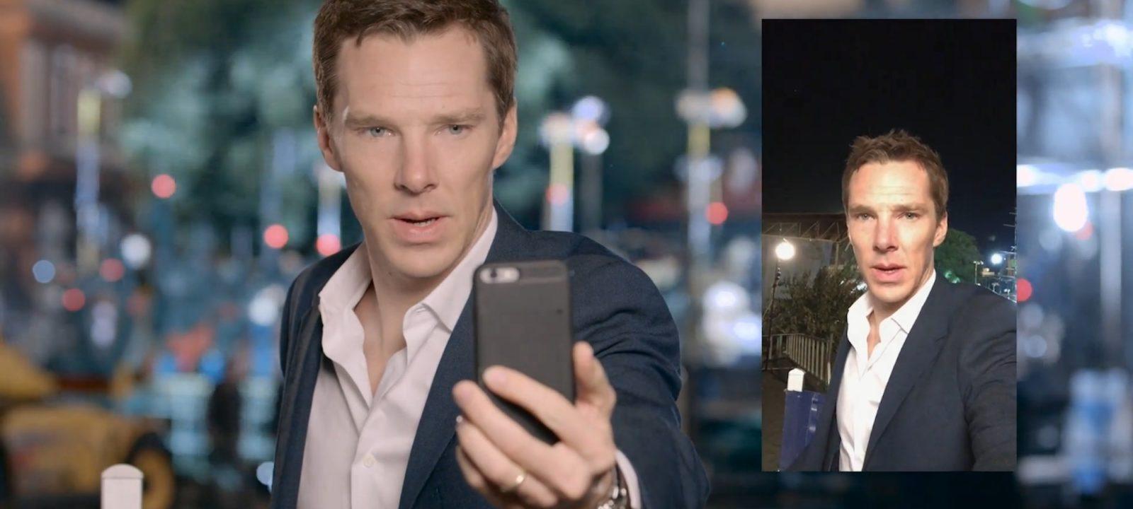 """Benedict Cumberbatch practises his """"blue steel"""""""