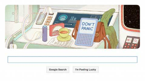 Douglas Adams Google Doodle (Photo: Google)