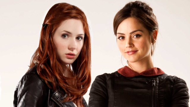 Karen Gillan and Jenna Coleman (Photo: BBC)