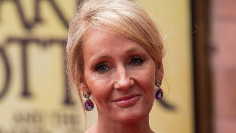 """J. K. Rowling attends the press preview of """"Harry Potter & The Cursed Child"""" at Palace Theatre on July 30, 2016 in London, England. Harry Potter and the Cursed Child, is a two-part West End stage play written by Jack Thorne based on an original new story by Thorne, J.K. Rowling and John Tiffany."""