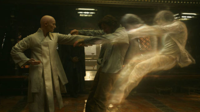 Tilda Swinton and Benedict Cumberbatch in 'Doctor Strange'