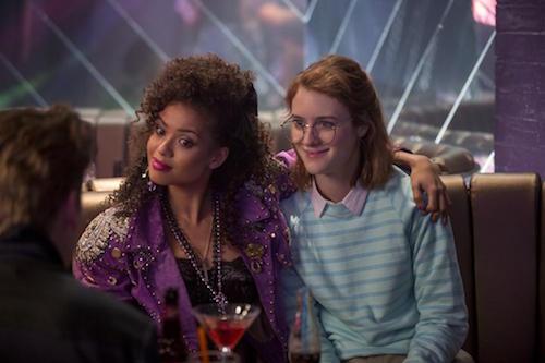 "Gugu Mbatha-Raw and Mackenzie Davis star in ""San Junipero"". (Image: Netflix)"