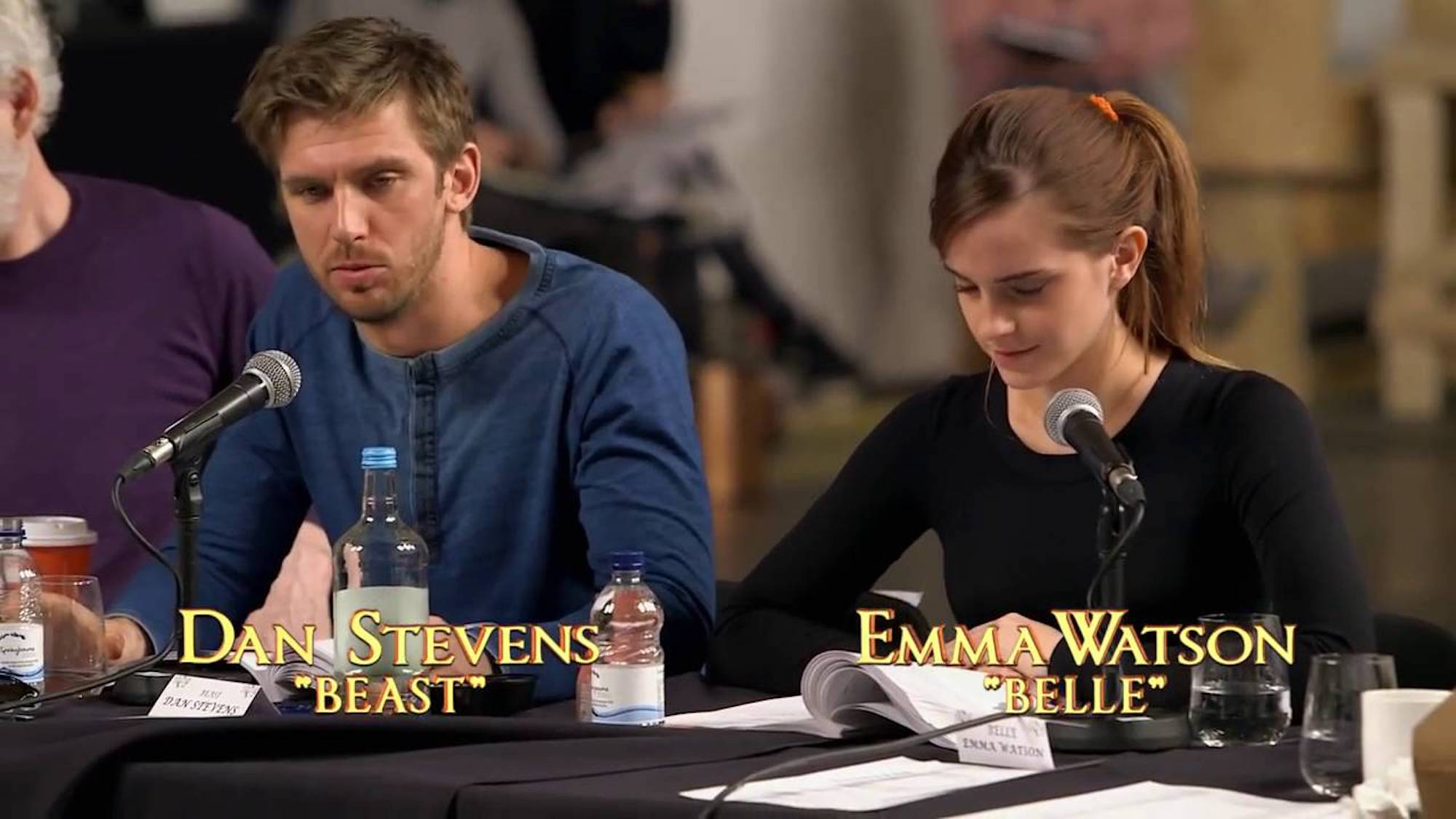 WATCH Dan Stevens And Emma Watson In Beauty The Beast Table Read