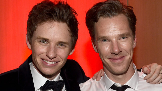 Actors Eddie Redmayne and Benedict Cumberbatch attend the 26th Annual Palm Springs International Film Festival Awards Gala at Parker Palm Springs on January 3, 2015 in Palm Springs, California.