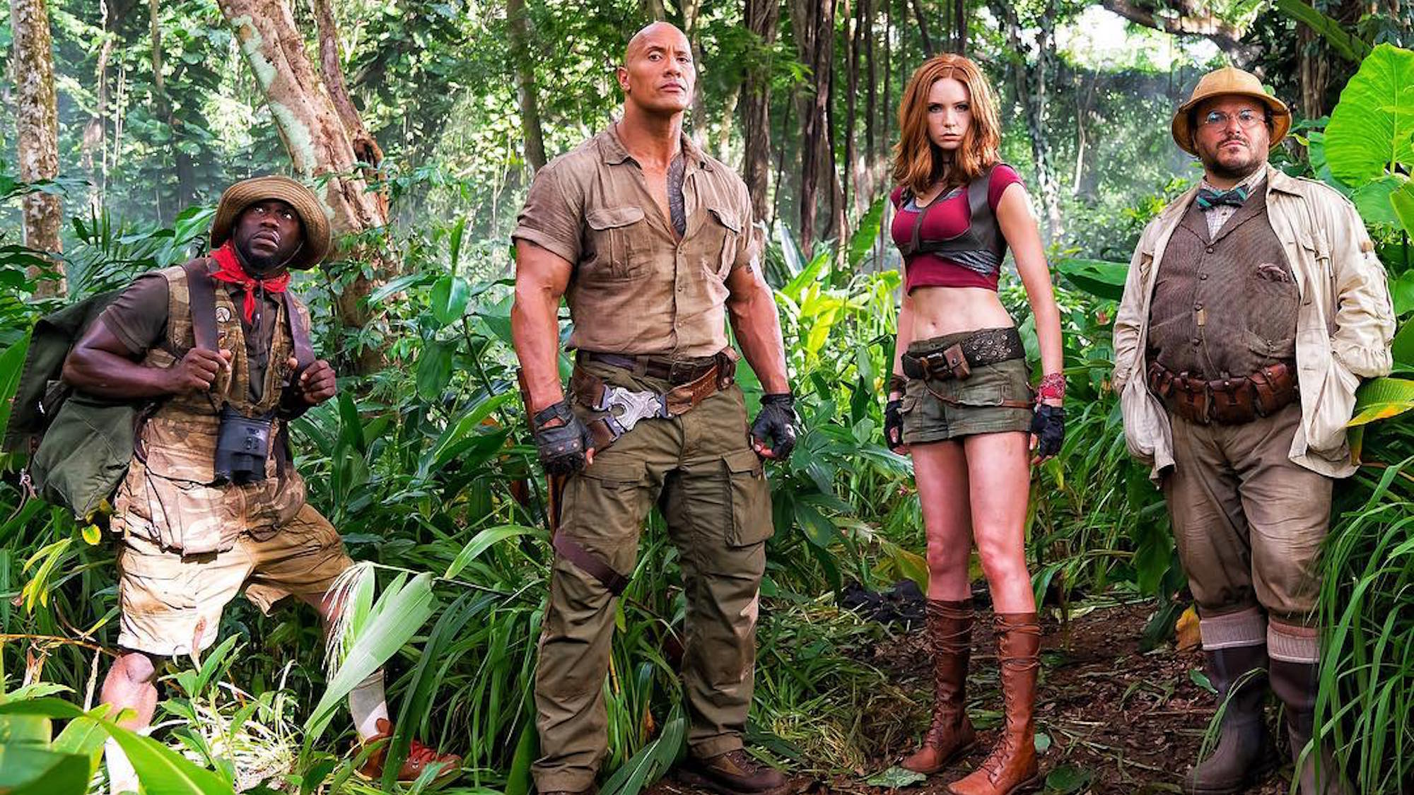 FIRST LOOK: Karen Gillan Joins Dwayne Johnson on the Set of 'Jumanji'