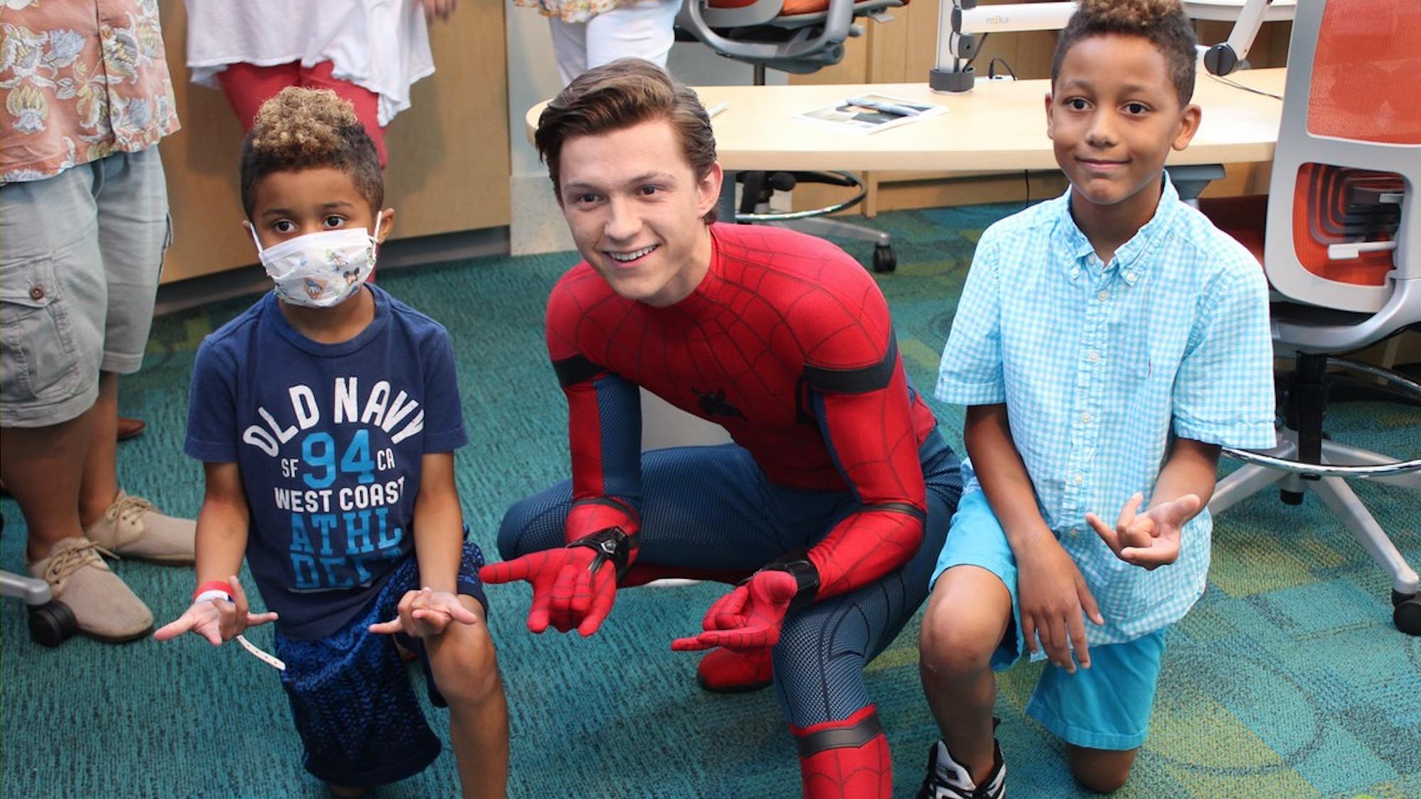 Watch tom holland visits sick children dressed as spider man watch tom holland visits sick children dressed as spider man anglophenia bbc america m4hsunfo