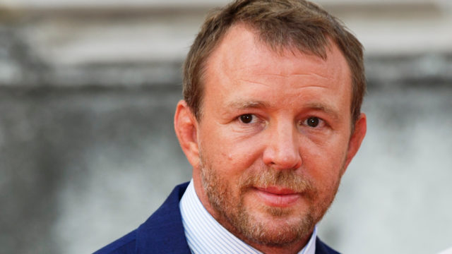 "Guy Ritchie and Jacqui Ainsley attend the people's premiere of ""The Man From U.N.C.L.E"" during Film4 Summer Screenings at Somerset House on August 7, 2015 in London, England."
