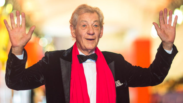 Sir Ian McKellen arrives for the red carpet of the 19th Shanghai International Film Festival at Shanghai Grand Theatre on June 11, 2016 in Shanghai, China.