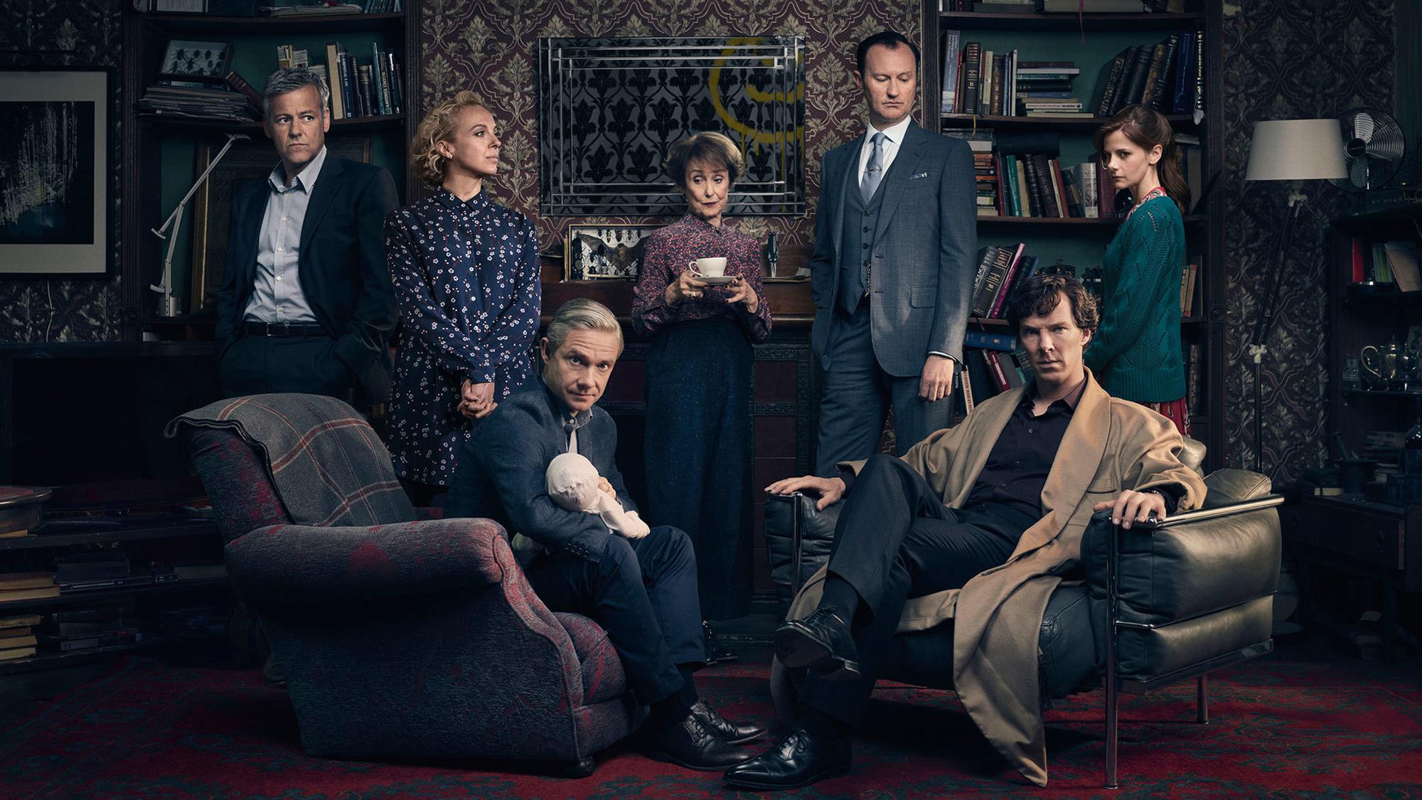 The cast of 'Sherlock' Season 4. (Pic: BBC)