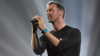 Chris Martin performs a tribute to George Michael on stage at The BRIT Awards 2017 at The O2 Arena on February 22, 2017 in London, England.