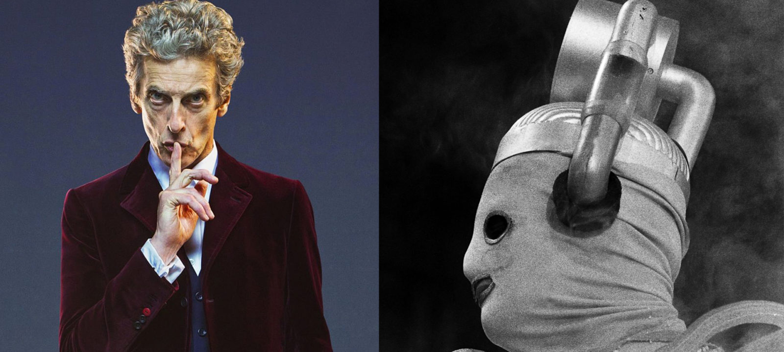 The Doctor and a Mondasian Cyberman (Photos: BBC)