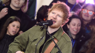 "Ed Sheeran performs on NBC's ""Today"" at Rockefeller Plaza on March 8, 2017 in New York City."