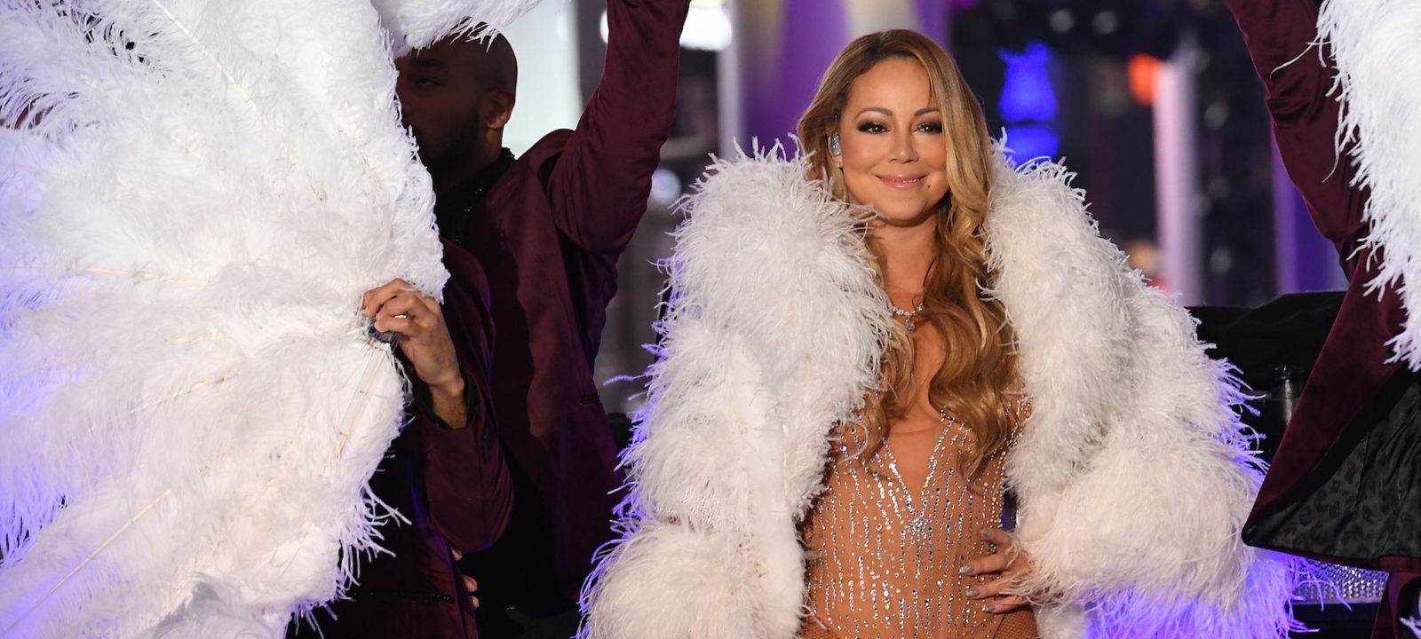 Mariah Carey performs during New Year's Eve celebrations in Times Square on December 31, 2016 in New York.