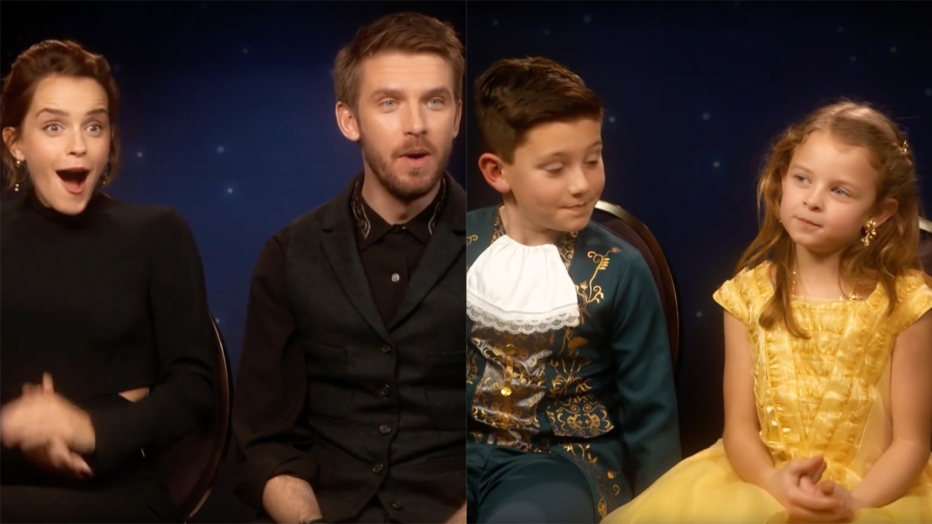 WATCH Emma Watson And Dan Stevens Interviewed By Mini Belle Beast