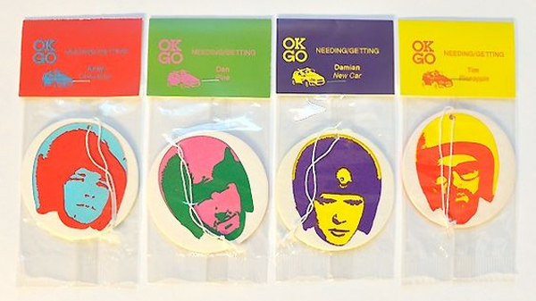 OK Go's air fresheners (Photo: Pinterest)