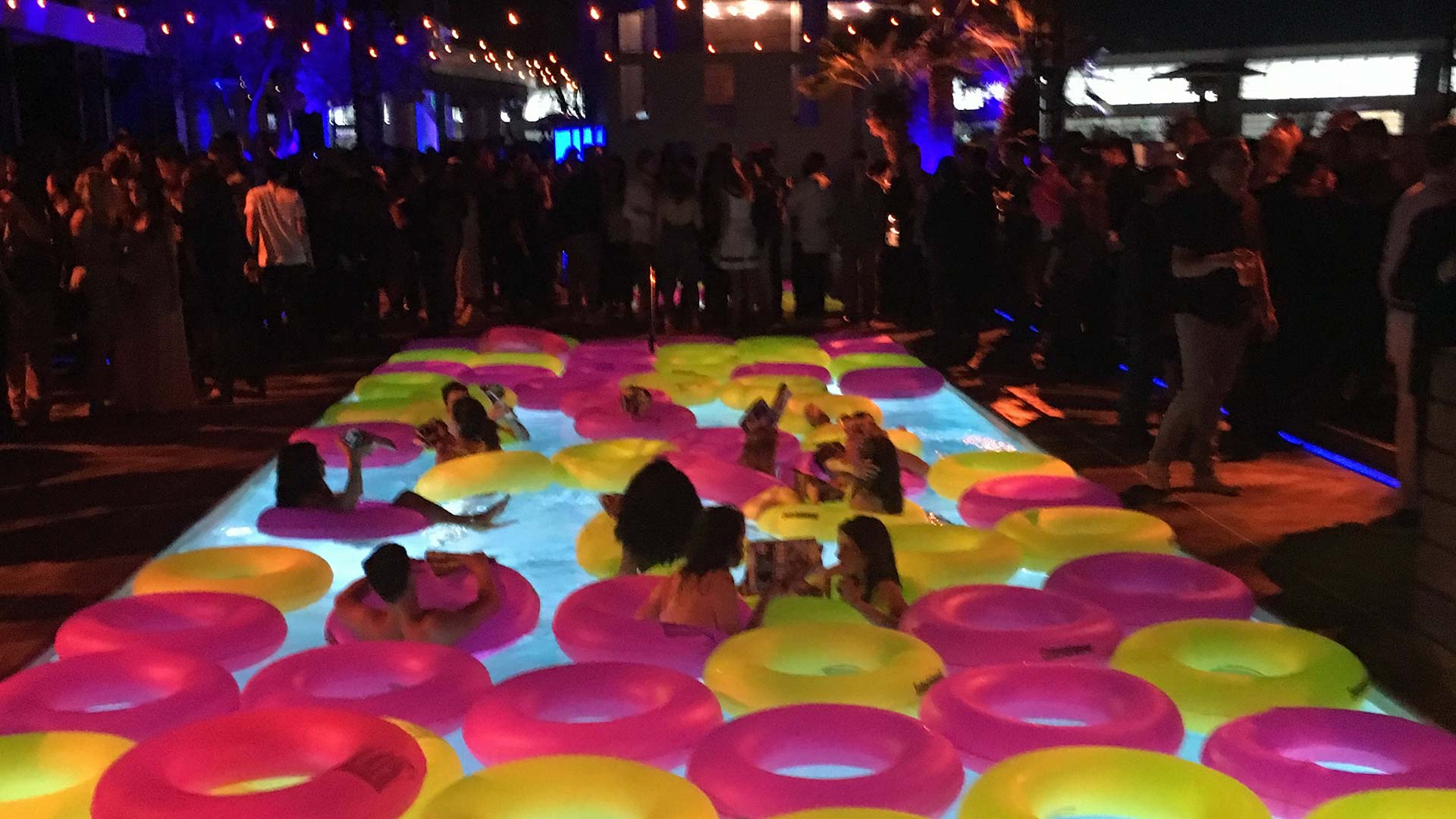 Comic-Con comes with swanky parties!(No Orphan Black cast removed any clothing to go swimming, not even Kristian… this time anyway.)