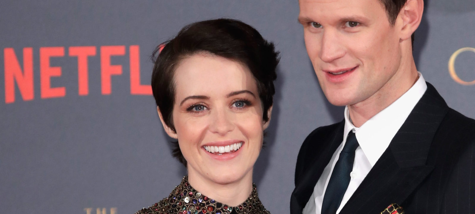 "Actors Claire Foy (L) and Matt Smith (R) attend the World Premiere of season 2 of Netflix ""The Crown"" at Odeon Leicester Square on November 21, 2017 in London, England."