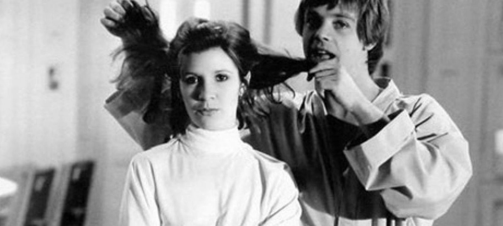 Carrie Fisher and Mark Hamill in 'Star Wars'
