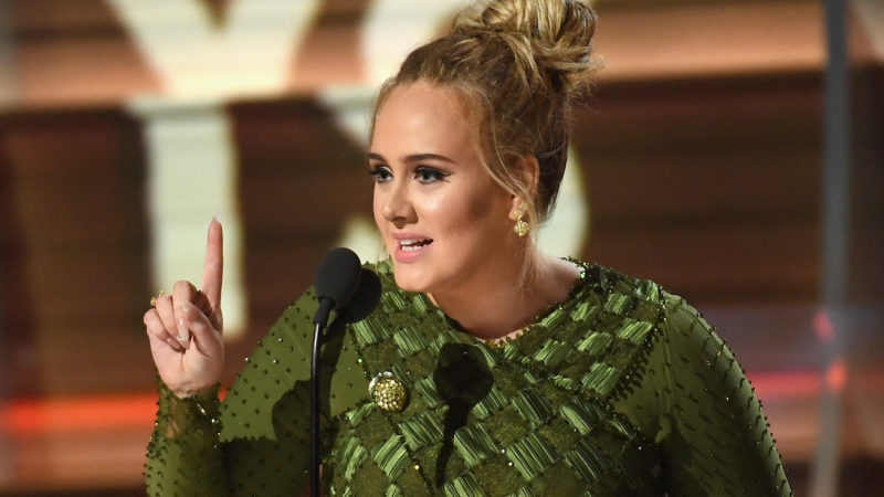 Recording artist Adele accepts the award for Record of the Year for 'Hello,' onstage during The 59th GRAMMY Awards at STAPLES Center on February 12, 2017 in Los Angeles, California.