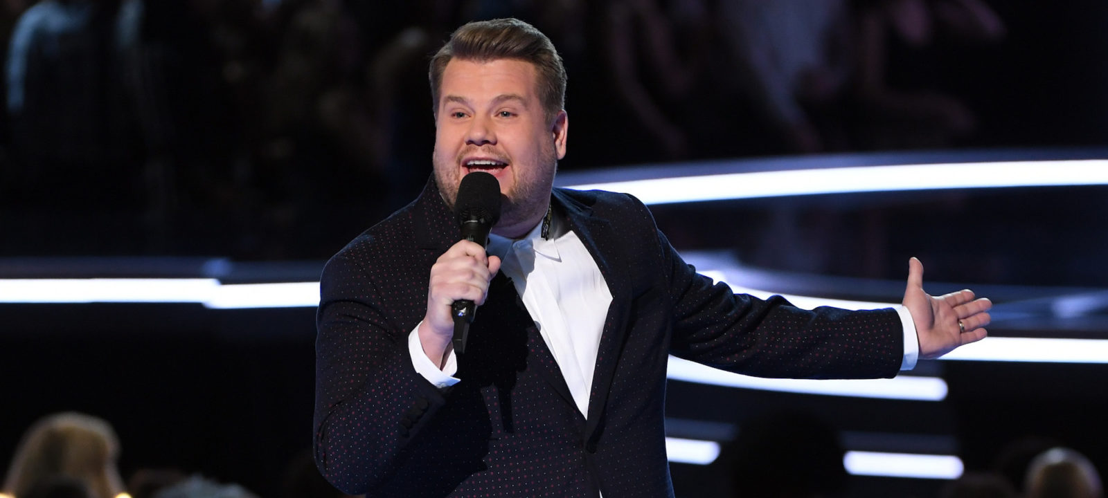 Host James Corden speaks onstage during the 60th Annual GRAMMY Awards at Madison Square Garden on January 28, 2018 in New York City.