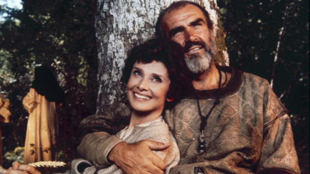 Audrey Hepburn (1929-1993) as Lady Marian and Sean Connery as Robin Hood, in Richard Lester's 'Robin And Marian, 1976. (Photo: Hulton Archive/Getty Images)