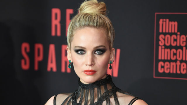 """Jennifer Lawrence attends the """"Red Sparrow"""" New York Premiere at Alice Tully Hall at Lincoln Center on February 26, 2018 in New York City."""